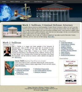 Mark J. Sullivan Website Redesign by SimcoMedia