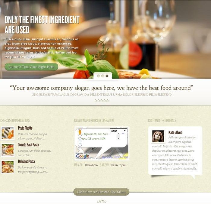 WordPress Restaurant Designs